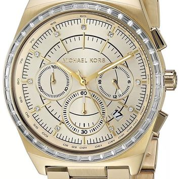 Michael Kors Women's MK6421 Vail Rose Gold-Tone Chronograph Watch