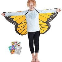 Douglas Toys Dreamy Dress-Ups 50568 Orange Monarch Butterfly Wings with Coloring Book