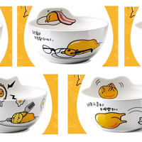 "Sanrio Gudetama Family Mart Limited 5""x2.5"" 5 Ceramics Bowl Set"