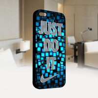 Nike Just Do It Abstract - Photo on Hard Cover For Iphone 4 / 4S Case, iPhone 5 Case - Black, White, Clear