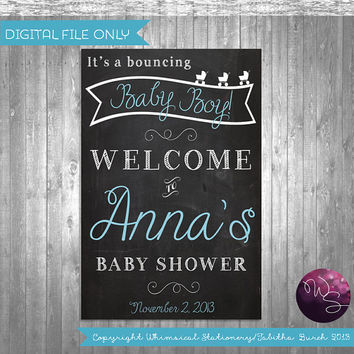 Large Baby Shower Sign (Printable FIle Only) Chalkboard-Style Baby Shower Sign; DIY Baby Shower SIgn; Baby Shower Printables
