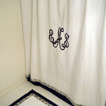 Monogrammed Shower Curtain By MonogramsEtcNC On Etsy