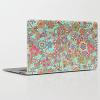 My flowers and butterflies in blue. Laptop & iPad Skin by Juliagrifol Designs | Society6