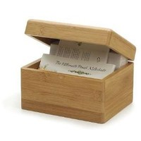 Eco-Friendly Friendly Bamboo Recipe Box by RSVP
