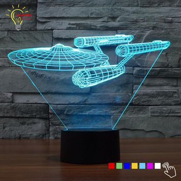 Novelty Star Trek Night Light 3D Lampe Star Wars USB LED Lighting Luminaria de mesa Table Decor Bedside Nightlight for Child