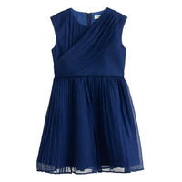 crewcuts Girls Draped Dress In Crinkle Chiffon