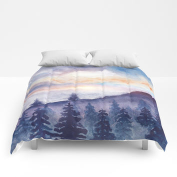 Into The Forest IX Comforters by Marco Gonzalez