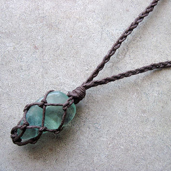Green Fluorite Necklace, Fluorite Pendant, Chakra Necklace, Healing Crystal Necklace, Stone Pendant Necklace