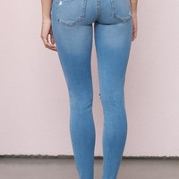 Santa Cruz Blue Premium High Waist Jegging