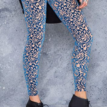 BURNED VELVET NUDE BLOOM LEGGINGS - LIMITED
