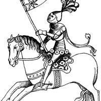 royal medieval knight printable wall art clipart png downloadable coloring page digital vintage image graphics for DIY Crafts And Products