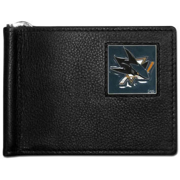 San Jose Sharks® Leather Bill Clip Wallet HBCW115