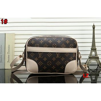 LV Fashionable Women Shopping Louis Vuitton Monogram Leather Crossbody Satchel Shoulder Bag