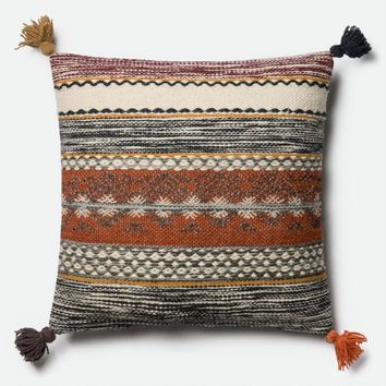 Loloi Rust / Multi Decorative Throw Pillow (P0433)