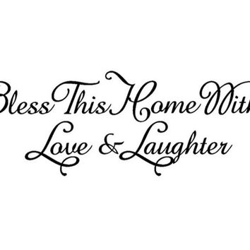 Bless This Home Removable Art Vinyl Wall Stickers