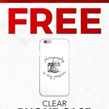 Christmas 2018 Free PFIPHN0043 Clear iPhone Case Heart Photography (Case available for 5c/5s/6/6s7/ 7+) Gift With Purchase