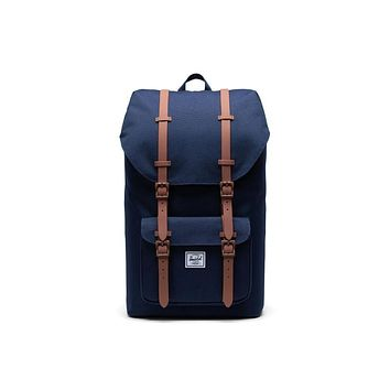 Herschel Supply Co. - Little America Peacoat Saddle Brown Backpack