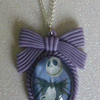 Nightmare Before Christmas Jack Skellington Inspired Cameo Necklace