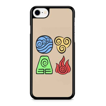Avatar The Last Airbender Symbols iPhone 8 Case