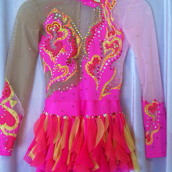 Competition Rhythmic Gymnastics Leotard/ ice skating dress