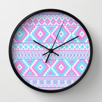 Tribal Art Pattern Wall Clock by Tjc555