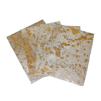 Metallic Splatter Cowhide Placemat