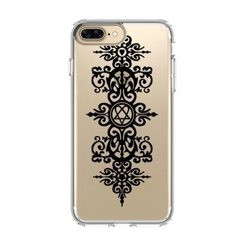 HIM BAND HEARTAGRAM CERTIFICATE iPhone 4/4S 5/5S/SE 5C 6/6S 7 8 Plus X Clear Case