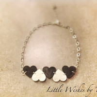 Heart Anklet Bracelet Leather Unique Silver Plated Perfect Spring Accessory