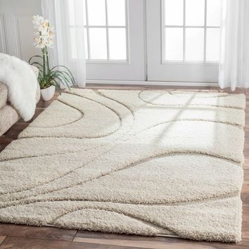 nuLOOM Luxuries Posh Ivory Shag Rug | Overstock.com Shopping - The Best Deals on 7x9 - 10x14 Rugs