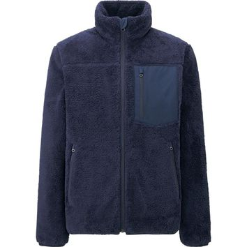 MEN WIND PROOF FAUX SHEARLING FLEECE JACKET | UNIQLO