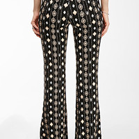 Tribal Print Flared Pants