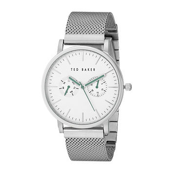 Ted Baker Smart Casual Collection Custom Multifunction Sub-Eye w/ Contrast Detail Date Mesh Bracelet Watch