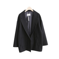 2017 Women Fashion Blazers Coat Jacket Loose Solid Color Long Sleeve White-collar Worker Workwear Blazers S-XL