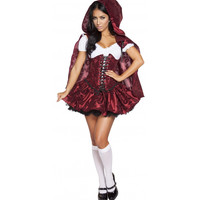 Roma Costume 4616 - 4pc Lusty Lil' Red Women's Costume