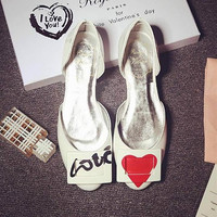 Korean Round-toe Leather Low-cut White Flats Shoes [4920467972]