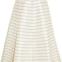 Emilia Wickstead - Pearly striped silk-twill maxi skirt