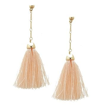 Blush Pink  or Gray Tassel Earrings