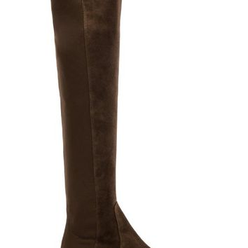 Stuart Weitzman Reserve Stretch Suede Boot in Olive