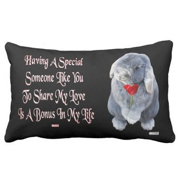 Special Just Because Love Greeting by Kat Worth Lumbar Pillow