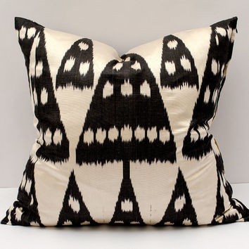 20x20 ikat pillow cover,black white pillow cover cushion case