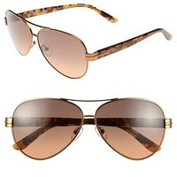 Tory Burch 59mm Aviator Sunglasses