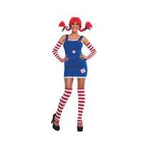 Starline Womens Pippi Long Stockings Halloween Party Costume Set