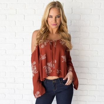 Fascination Embroider Floral Top