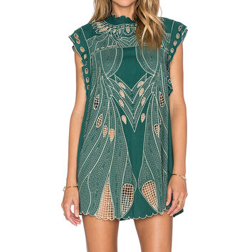 Tularosa Noah Tunic Dress in Emerald