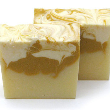 Vegan Orange Lemon Nectarine Soap, Handmade Natural Soap