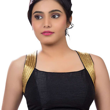 Exquisite Black Silk Party-Wear Sari Blouse SNT-X-257-NS