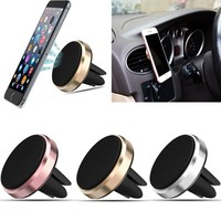 Universal Car Mount Air Vent Sticky Magnetic Stand Mobile Car Dashboard Holder GPS Soporte Movil Car Phone Car Accessories