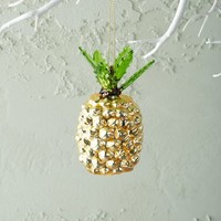 Tropical Glass Ornament - Pineapple