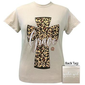 Girlie Girl Originals Preppy Leopard Cross Grace T-Shirt