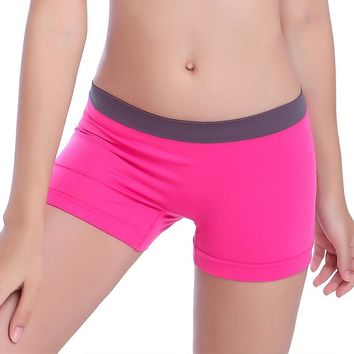 Pink Women Gym Compression Booty Shorts Spandex Ladies Volleyball Running lycra Athletic
